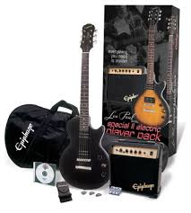 epiphone les paul special ii 2 player pack ebony electric guitar