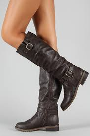 s boots knee high brown dillian 7 buckle knee high boot the quest for motorcycle