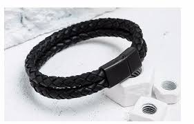 buckle clasp bracelet images Genuine leather braid magnetic buckle clasp bracelet mani luxe jpg