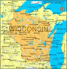 wisconsin map state map
