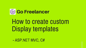 how to create custom display templates in asp net mvc youtube