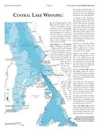 winnipeg map lake winnipeg angler s atlas
