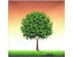 tree landscape painting palette knife painting original