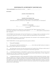Sample Roommate Contract 10 Best Images Of Roommate Agreement Form Free Roommate