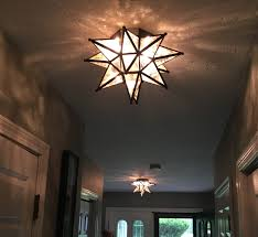 ideas wonderful interior lights design with moravian star