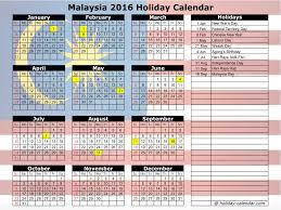 2016 calendar malaysia
