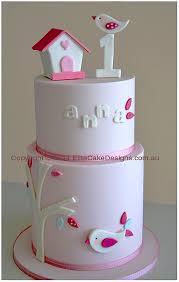 bird theme christening and 1st birthday cake christening cakes
