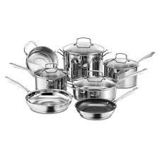 Stainless Stee 11 Pc Professional Stainless Steel Cookware Set