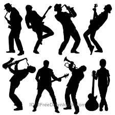 free silhouette images free vectors silhouette of musician people design