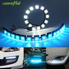 best led daytime running lights car cob led drl driving fog light flexible daytime price 18 45 buy