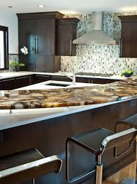 Kitchen Marble Top Kitchen Awesome Kitchen Design With Brown Wooden Kitchen Cabinet