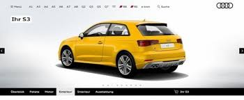 audi configurater 2017 audi s3 configurator launched specs available