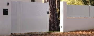 portail pour maison pas cher portail coulissant pvc 3m portillon 1m50 carlier construction