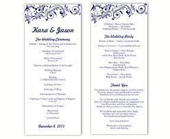 wedding program templates wedding program template diy editable word file instant