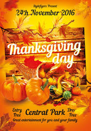 the thanksgiving free flyer template for photoshop