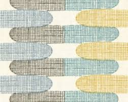 Roman Upholstery Grey Yellow Geometric Upholstery Fabric Custom Yellow Grey