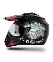 vega motocross helmets vega helmet off road gangster black base with red graphics