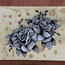 pma tattoo original art watercolor traditional black u0026 grey