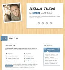 Resume Web Template 50 Professional Html Resume Templates Web U0026 Graphic Design