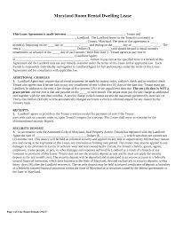 free maryland roommate room rental agreement form word pdf