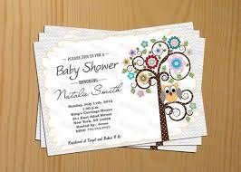 owl baby shower invitation gender neutral baby shower invitation