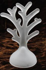 frosted glass branch for jewelry display rack or hanging ornaments