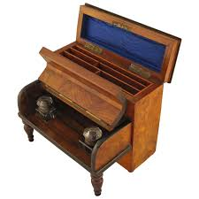 Desk Accessory Sets by English Desk Set With Inkwells And Stationery Box For Sale At 1stdibs