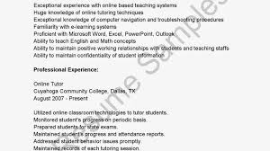 Resume Sample Tutor by 95 Online Resumes Samples Customer Service Resumes Examples