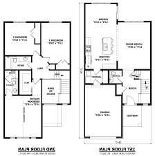simple floor plan samples two storey house plans with balcony small story narrow lot modern