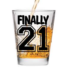 21st birthday halloween background amazon com finally 21 shot glass 21st birthday gift