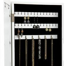 Oxford Jewelry Armoire Furniture Decorative Wall Mount Jewelry Armoire Ideas Wall