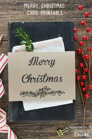 merry christmas card printable