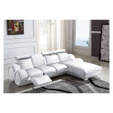 canap angle relaxation canapé d angle relax en cuir blanc design vilnus achat vente