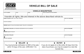 printable vehicle bill of sale free oregon dmv bill of sale form download pdf word