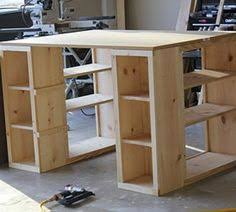 Craft Table Desk Two Small Bookshelves Plus A Thick Board Desk Island Craft