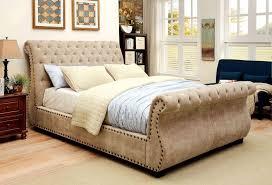 Velvet Sleigh Bed Best Rolled Tufted Velvet Sleigh Bed For Your Lovely Home One