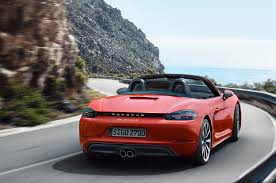 red porsche boxster 2017 2017 porsche 718 boxster fully revealed with turbo flat four engines