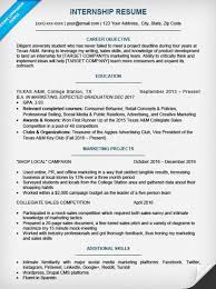 Marketing Intern Resume Sample by College Student Resume Sample U0026 Writing Tips Resume Companion