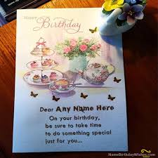 happy birthday wishes name cards