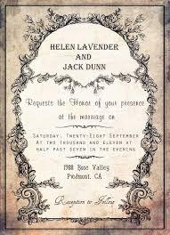 Invitation Card Border Vintage Style Wedding Invitation Card With Black Floral Motif