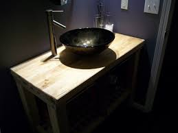 trendy oak unfinished ikea bathroom vanity with black bowl sink