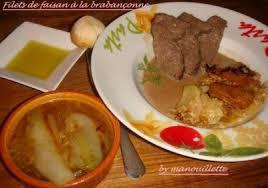 recette de cuisine filet de faisan filet de faisan à la brabançonne par gourmandise