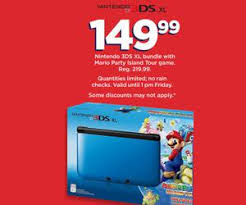 nintendo 3ds xl black friday nintendo 3ds xl bundle with mario party island tour game deal at