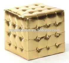 Gold Ottoman Royal Shiny Gold Ottoman With Button Xy0309 Buy Shiny Gold