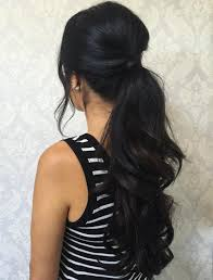 hairstyles for a wedding for medium length hair 30 eye catching ways to style curly and wavy ponytails