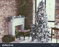 winter home decor christmas tree loft stock photo 481717195