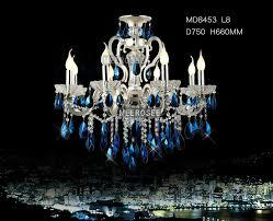 blue crystal chandelier light ihausexpress modern silver crystal chandelier light blue crystal