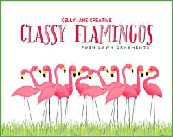 pink flamingo lawn ornament clipart stationery and product