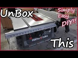porter cable table saw review porter cable jobsite table saw unboxing setup pcb222ts youtube