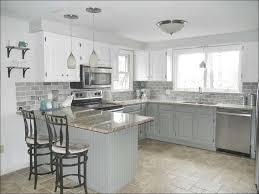 kitchen gray backsplash subway tiles high gloss white kitchen